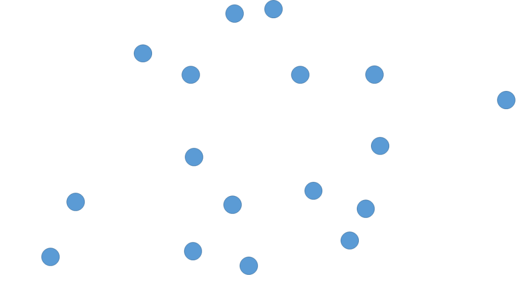 a smaller number of dots